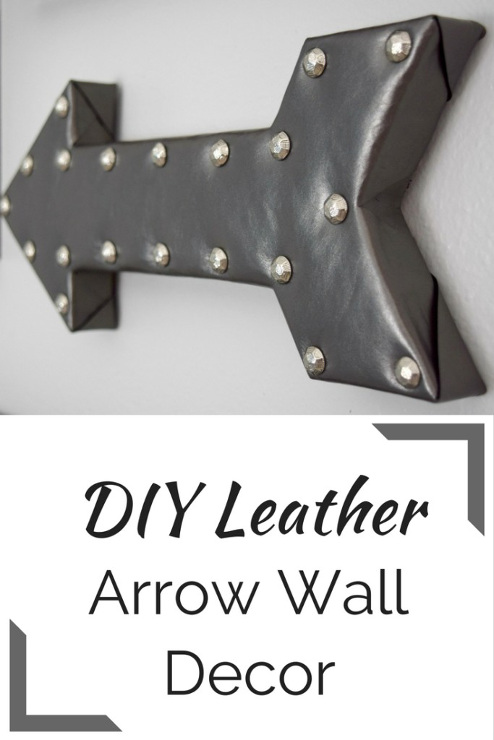 DIY Leather Arrow Wall Decor