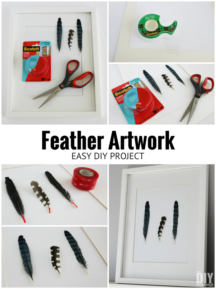 How to make Gorgeous Feather Artwork! This is a quick and easy wall art tutorial!