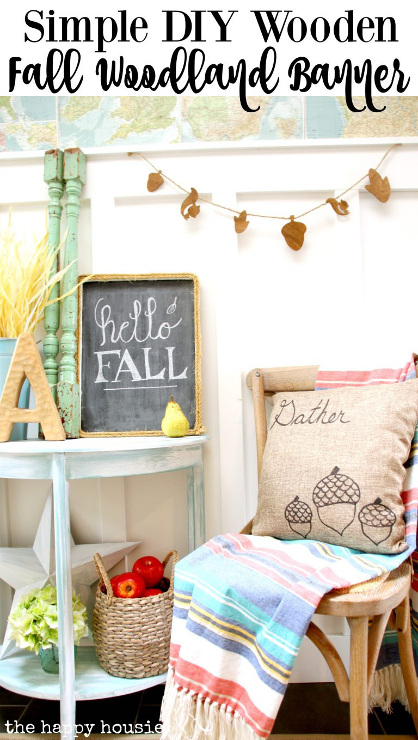 Simple DIY Wooden Fall Woodland Banner