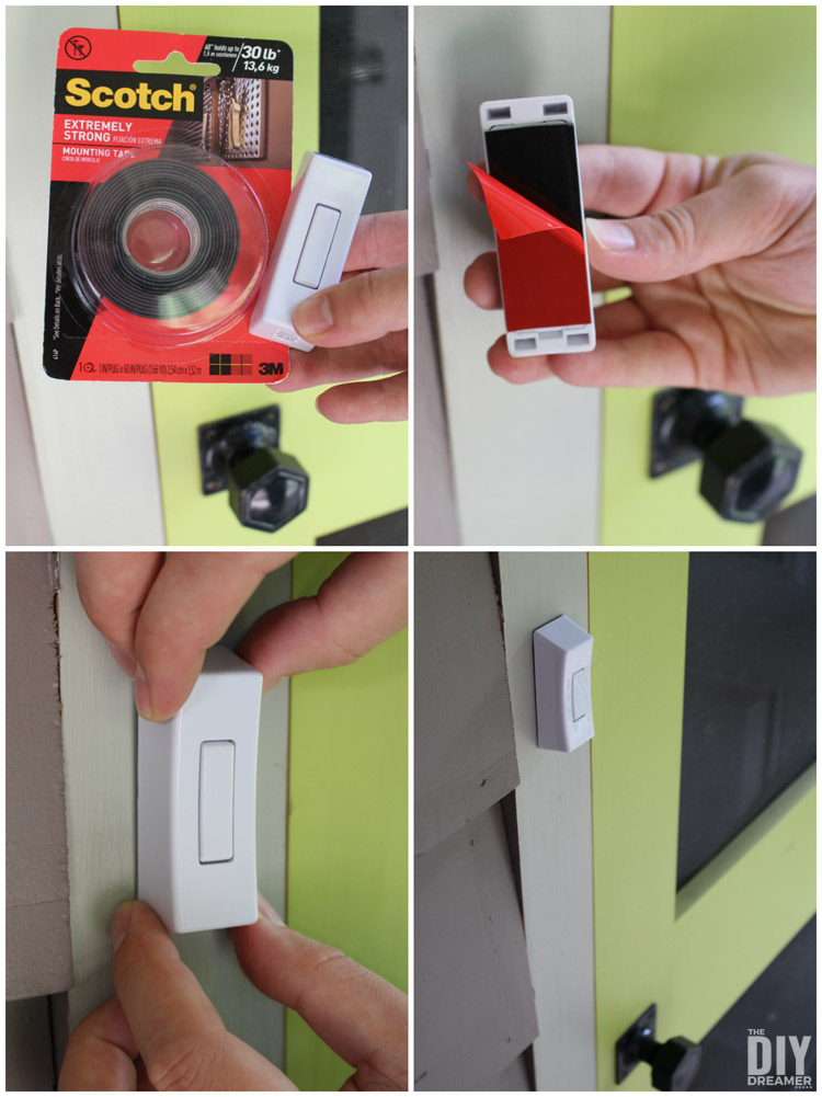 How to stop a doorbell from falling.