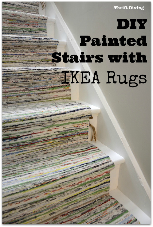 DIY Painted Stairs Makeover
