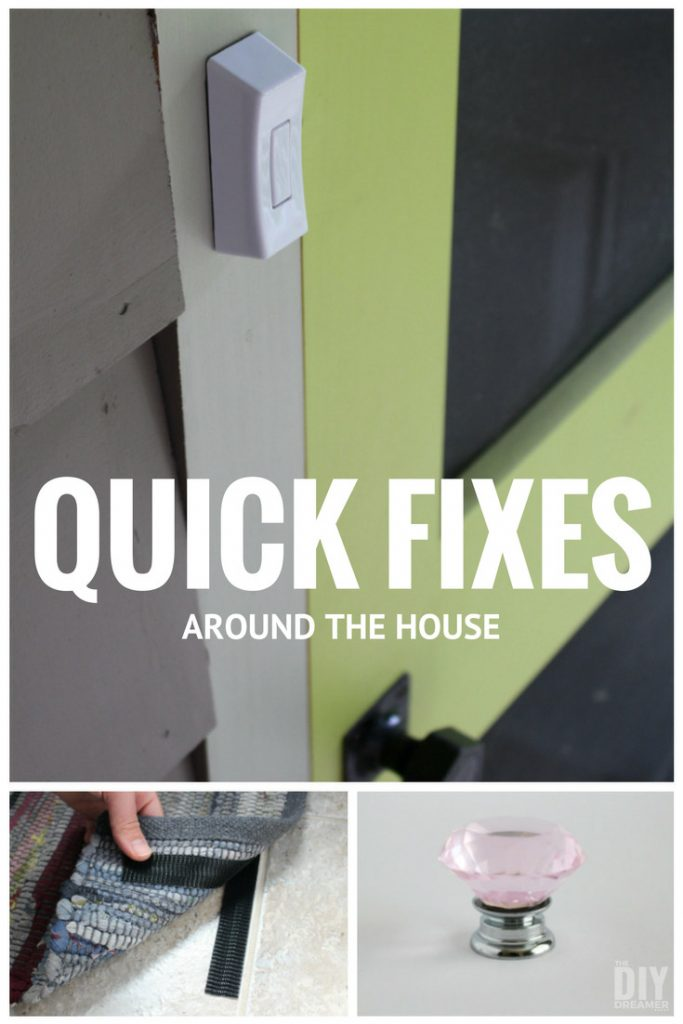 Quick fixes around the house. Learn how to tackle your to-do list quickly.