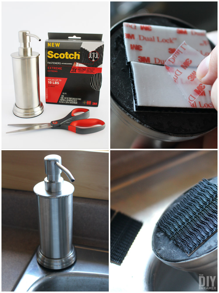 Shifting Soap Dispenser. How to stop a soap dispenser from slipping around.