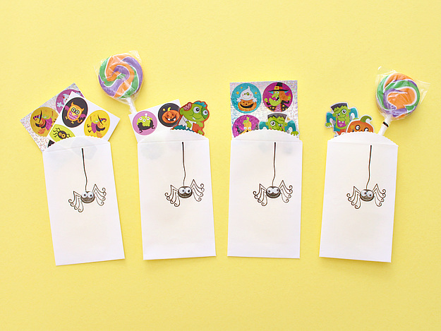 Stamped Halloween Treat Sacks for kids