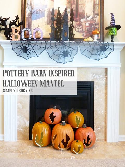 DIY Pottery Barn Inspired Flaming Pumpkins