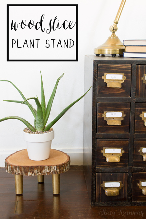 Wood Slice Plant Stand
