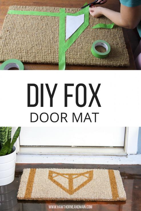 DIY Fox Doormat