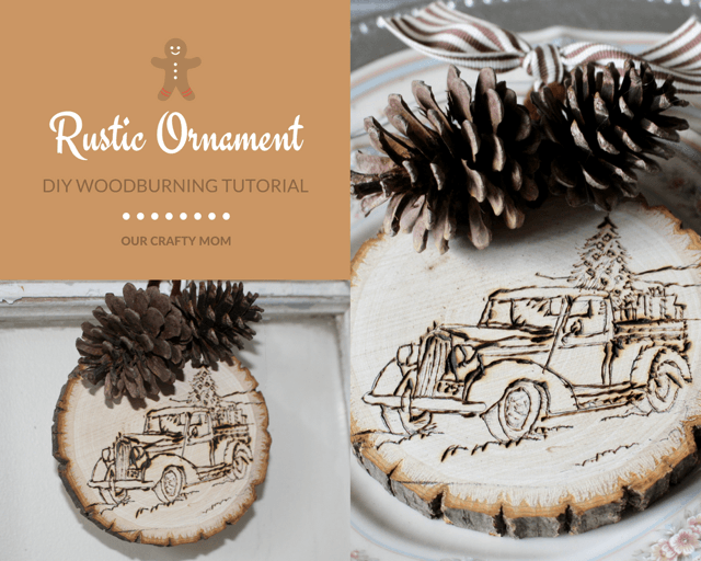 DIY Rustic Wood Slice Ornament
