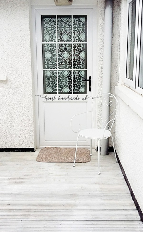 How to Transform a Glass Door with a Stencil