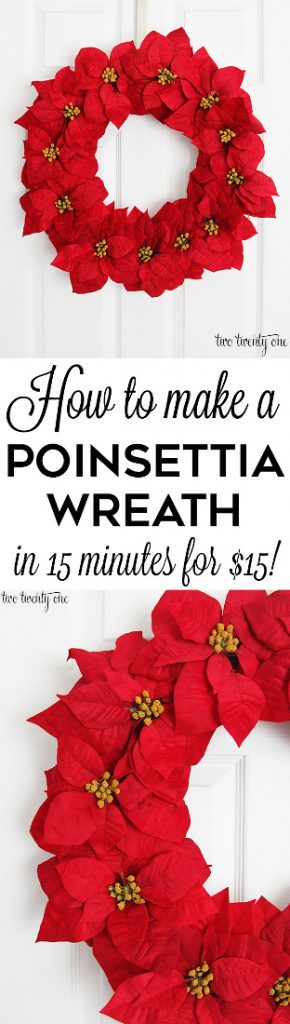 $15 Poinsettia Wreath