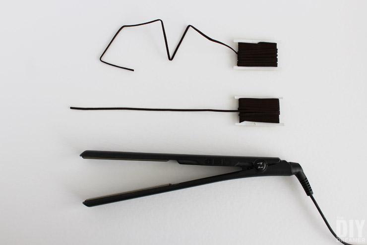 How to straighten sueded cording.