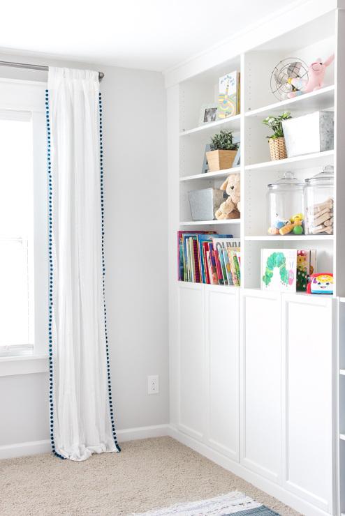 DIY No-Sew Pom Pom Curtains