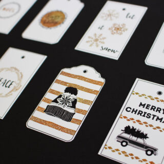Beautiful Black and Gold Printable Gift Tags!