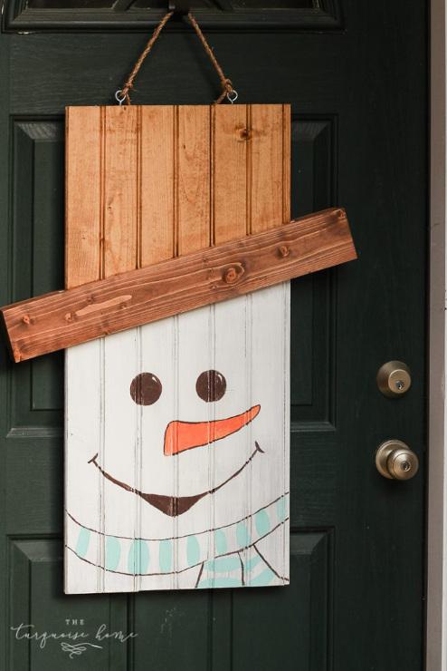 Rustic Snowman Door Hanger
