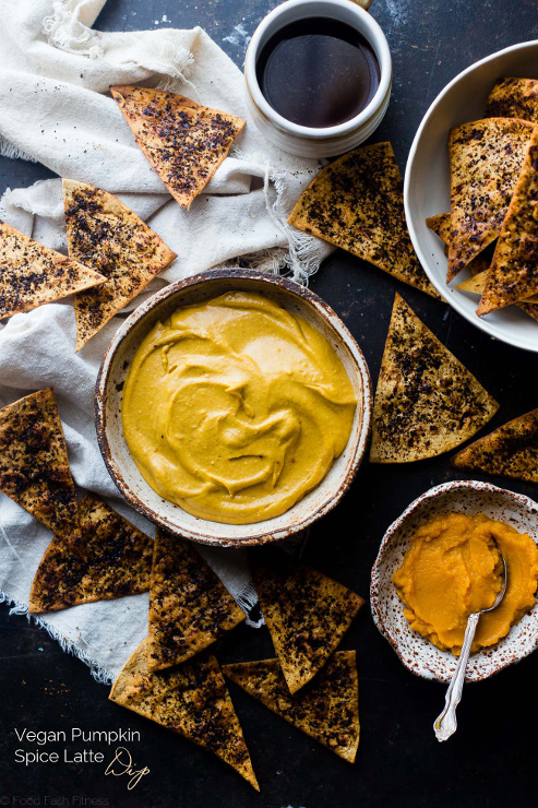 Easy Healthy Pumpkin Pie Dip With Coffee Chips