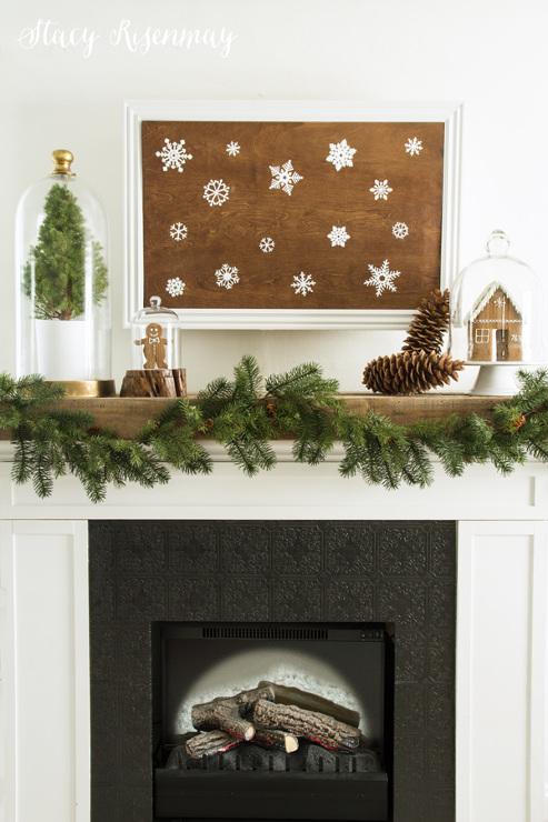 Christmas Snowflake Mantel