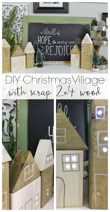 DIY Christmas Village Houses with Scrap Wood