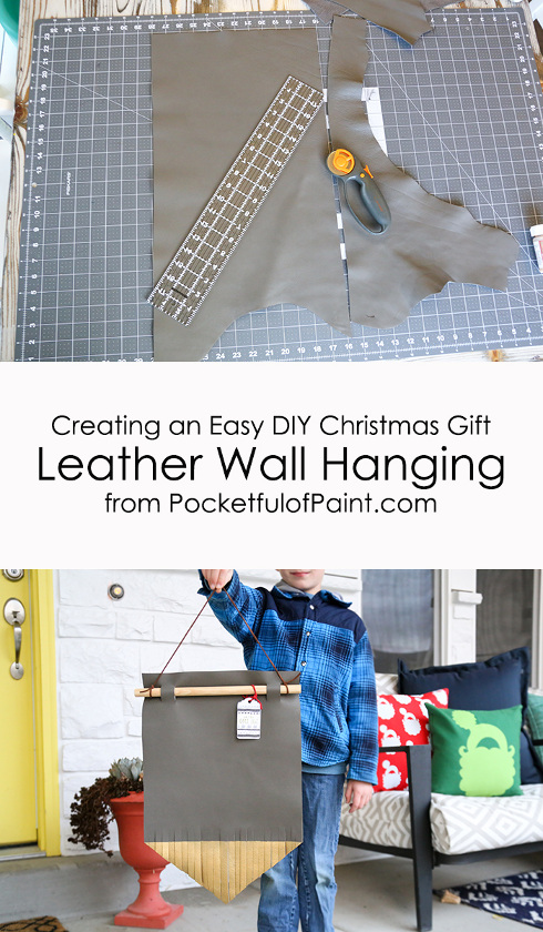 DIY leather wall hanging