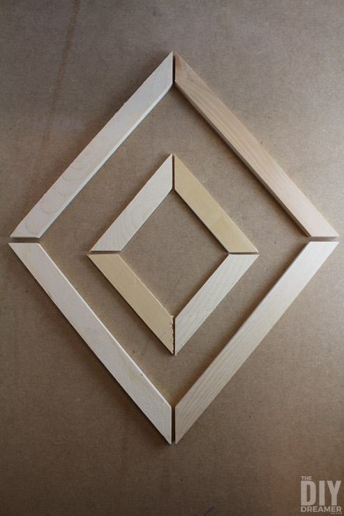 Diamond details out of scrap wood
