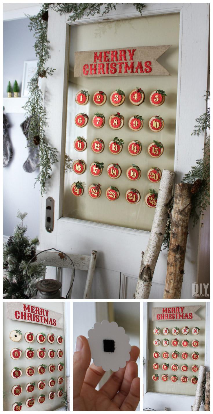 Glass Mounted Christmas Calendar