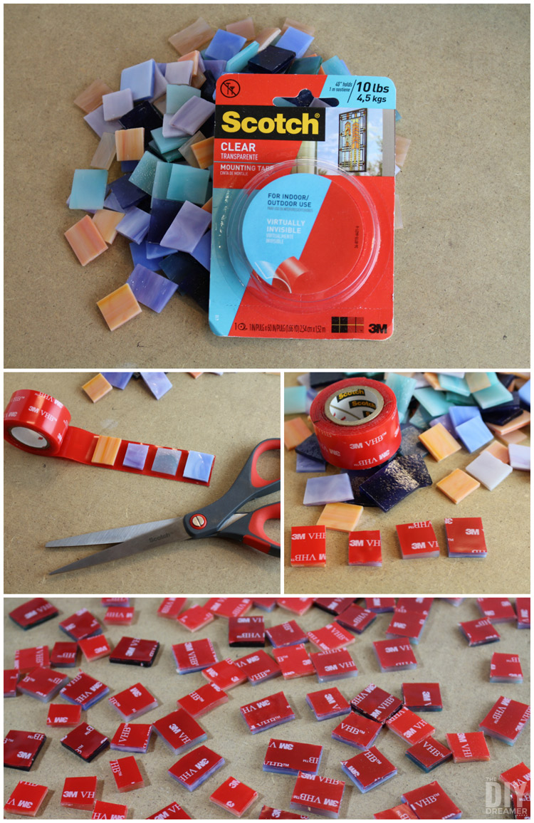 How to attach mosaic pieces to wall art