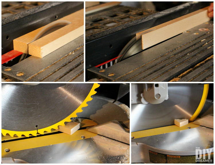 How to cut scrap pieces of wood