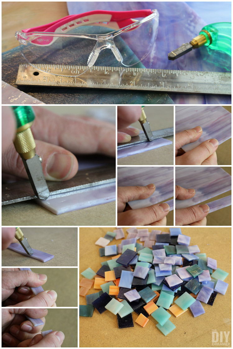Learning How To Cut Stained Glass Safely Diamond Shaped Wood And Mosaic  Wall Art Unique Wall