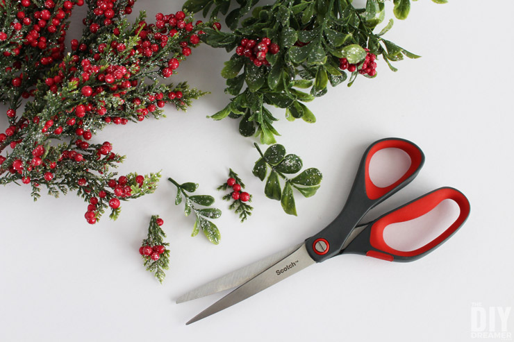 How to cut greenery