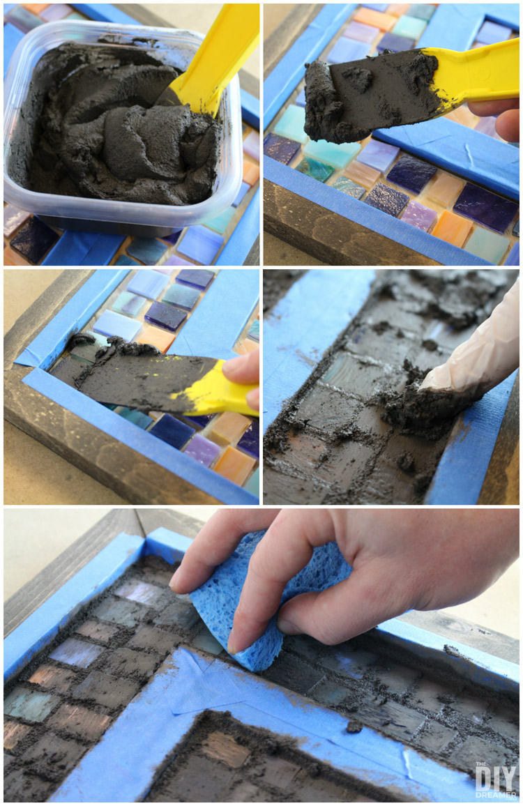 How to grout a mosaic wall art
