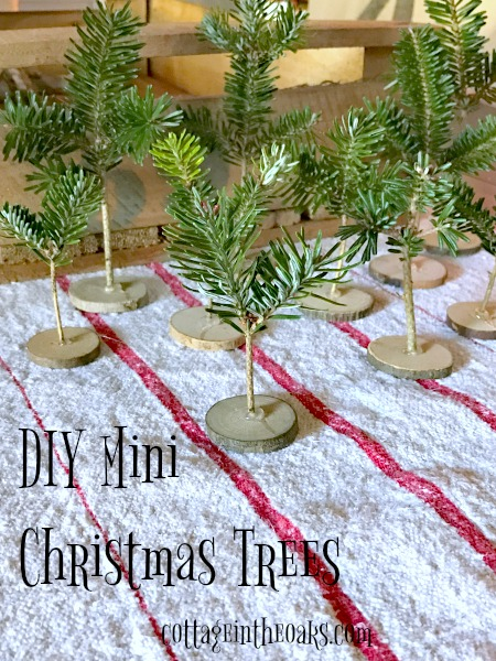 DIY Tiny Christmas Trees for Holiday Decor