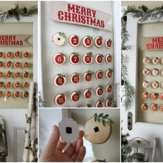 Glass Mounted Christmas Calendar