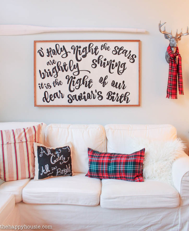 DIY Song Lyrics Sign / Christmas Carol Sign