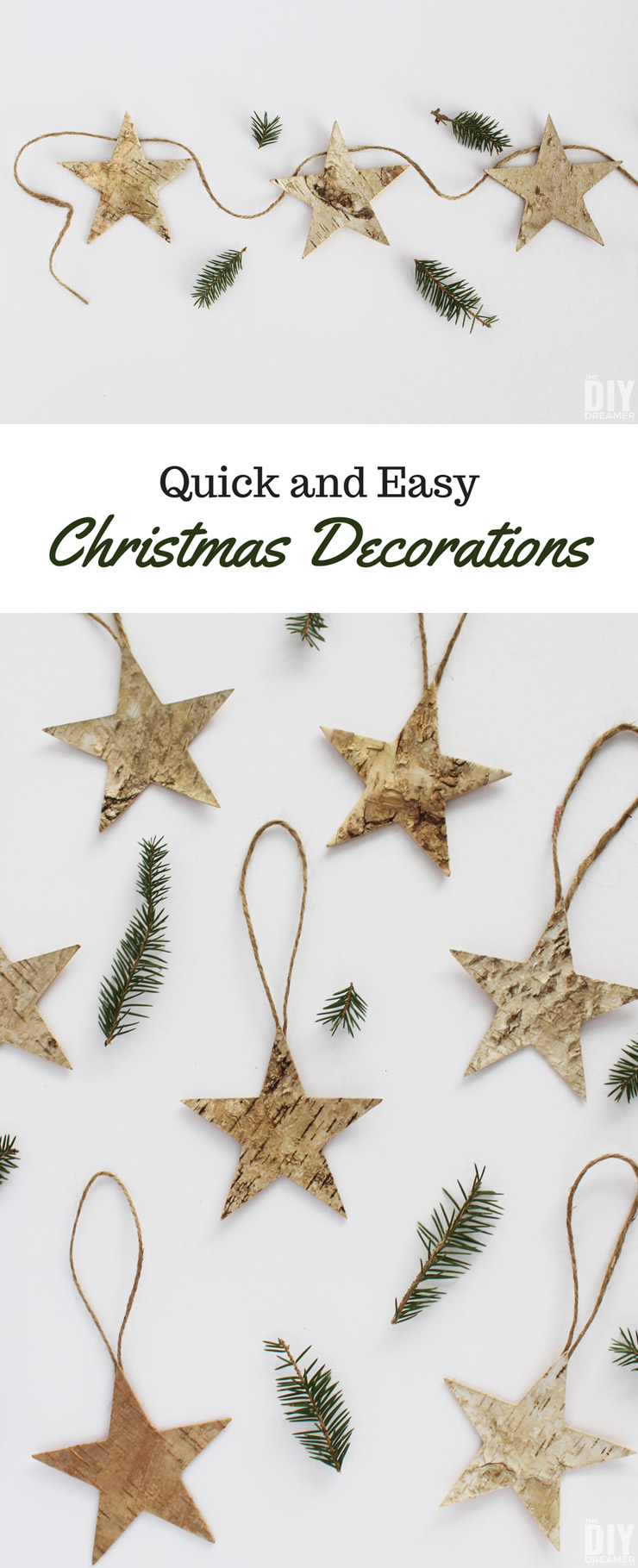 Quick and Easy Christmas Decorations that you can make this holiday season. Perfect for a Rustic Christmas.