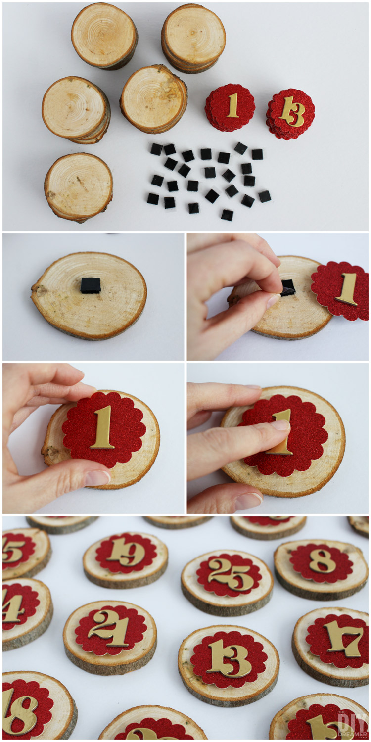How to make removable numbers and Xs for a Christmas Countdown