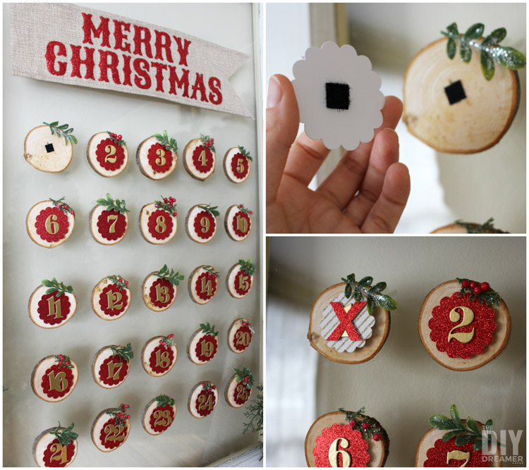 How to make a Christmas Countdown with interchangeable numbers