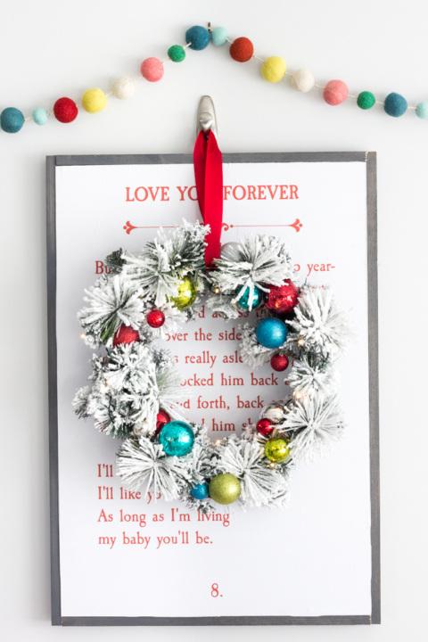 Whimsical Retro Christmas Wreath