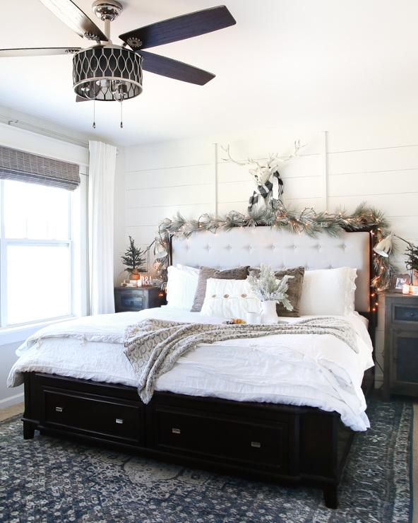 White Christmas Bedroom Tour