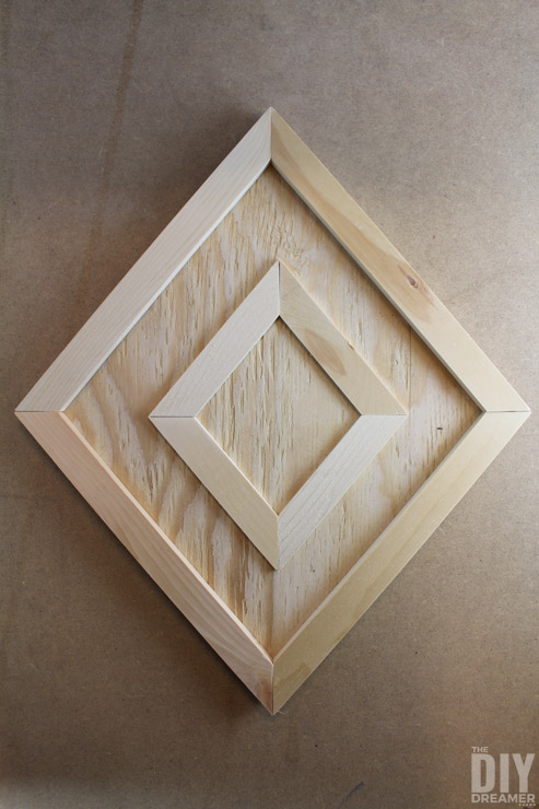 Dry fit wall art before assembling it