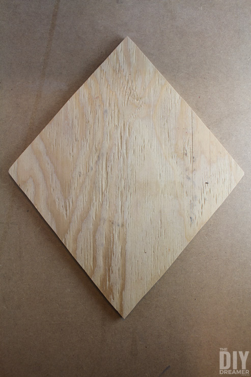 Wood Diamond out of plywood