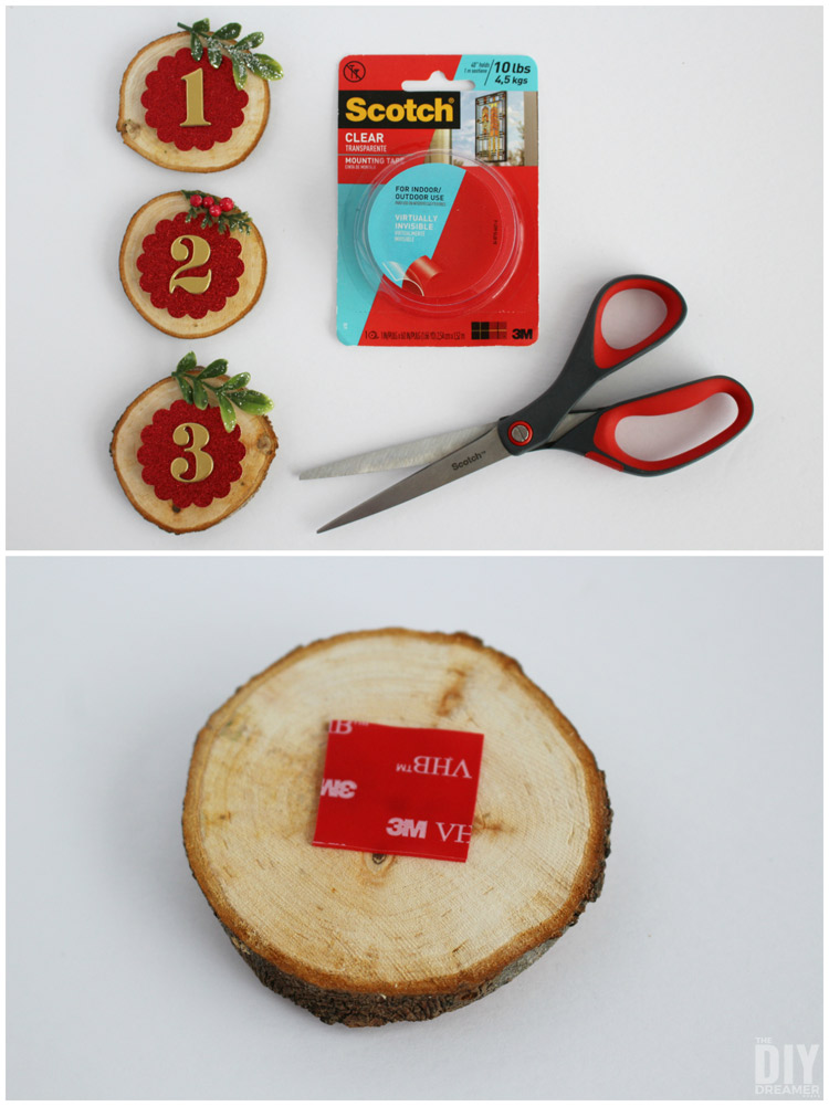 Wood Slice Christmas Calendar DIY