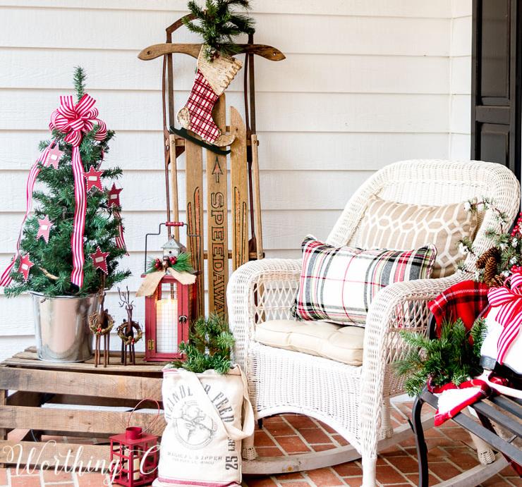 Urban Farmhouse Christmas Front Porch