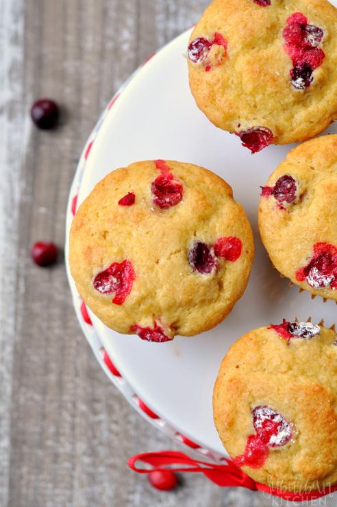 Cranberry Orange Pancake Muffins