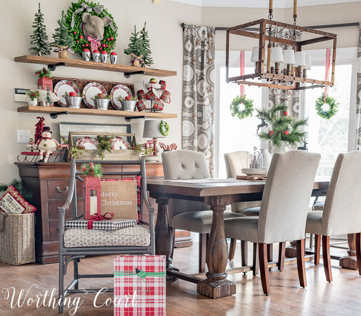 Christmas In My Farmhouse Breakfast Nook