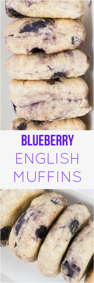 Blueberry English Muffins