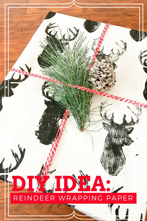 DIY Reindeer Wrapping Paper