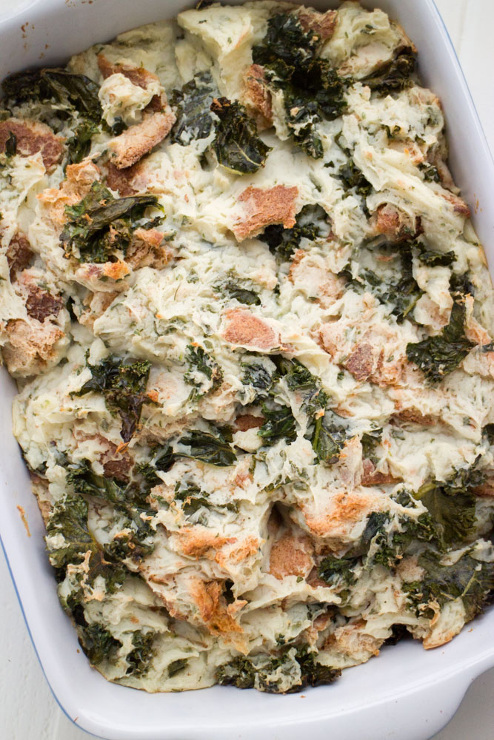 Kale Potato Bread Stuffing