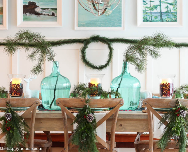 Lake Cottage Style Christmas Tablescape