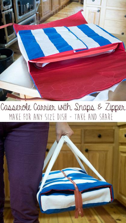 Casserole Carrier with Zipper Tutorial