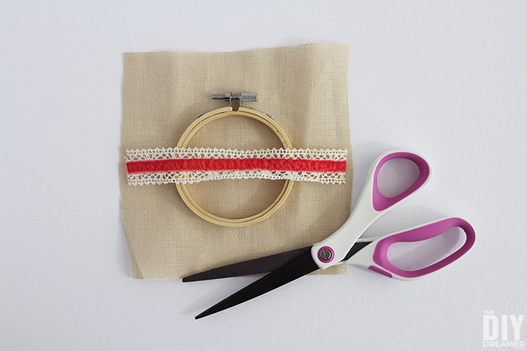 Choosing what goes inside an embroidery hoop