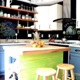 Fun Bright Kitchen Makeover